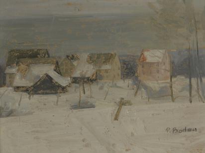 Bodmer Paul, Dorf im Winter