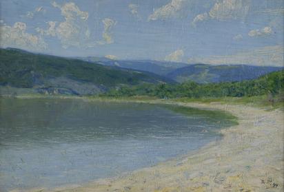 Robert Paul Théophile, Blick von Sutz-Lattrigen auf den Bielersee
