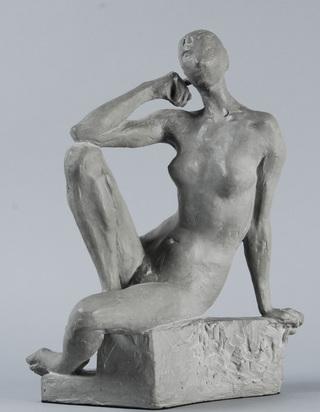 Bänninger Otto Charles, Sitzender weiblicher Akt