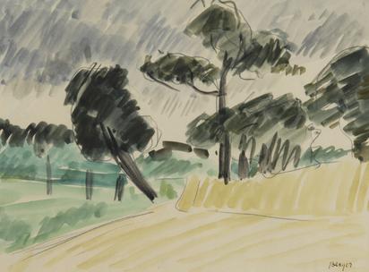 Berger Hans, Champs et arbres