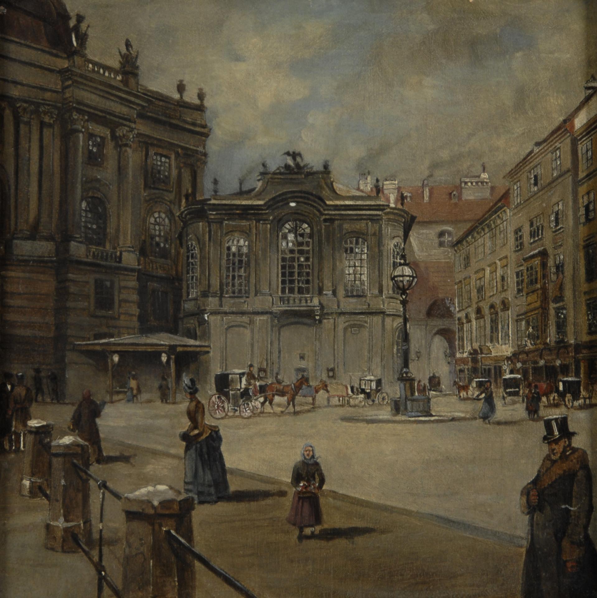Anonym, Wien, Michaelerplatz. Das alte Burgtheater, 1756-1888