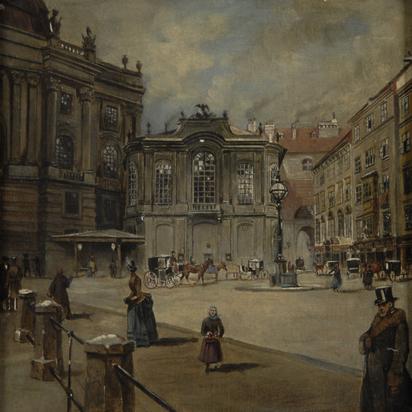 Anonym, Vienna, Michaelerplatz. Das alte Burgtheater, 1756-1888
