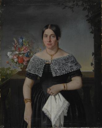 Anonym 19. Jh., 4 Gemälde: Josef Gottfried Hiersche; Theresia Hiersche; Jean Hiersche; Karoline Aloisia Hiersche