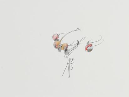 Janssen Horst, 2 Zeichnungen: Früchte, 1983; Gemüse