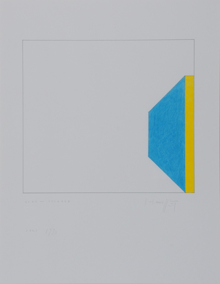 Honegger Gottfried, 4 Blätter: Glas-Collage Entwurf