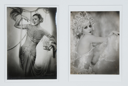Manassé Atelier, 2 photographs: Countess Ilona Karolewna, approx. 1930; La Jana - Tanz