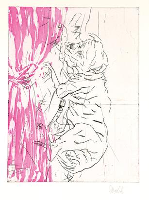 "Baselitz Georg, Jupiter, from ""Schlafende Hunde"""