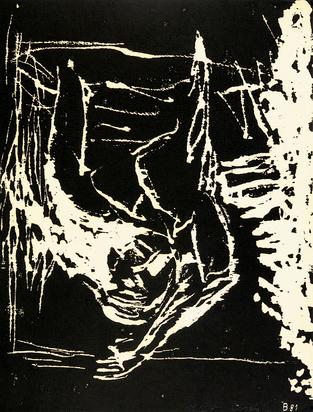 """Baselitz Georg, Frau am Fenster, from """"Erste Konzentration, Mappe III"""""""