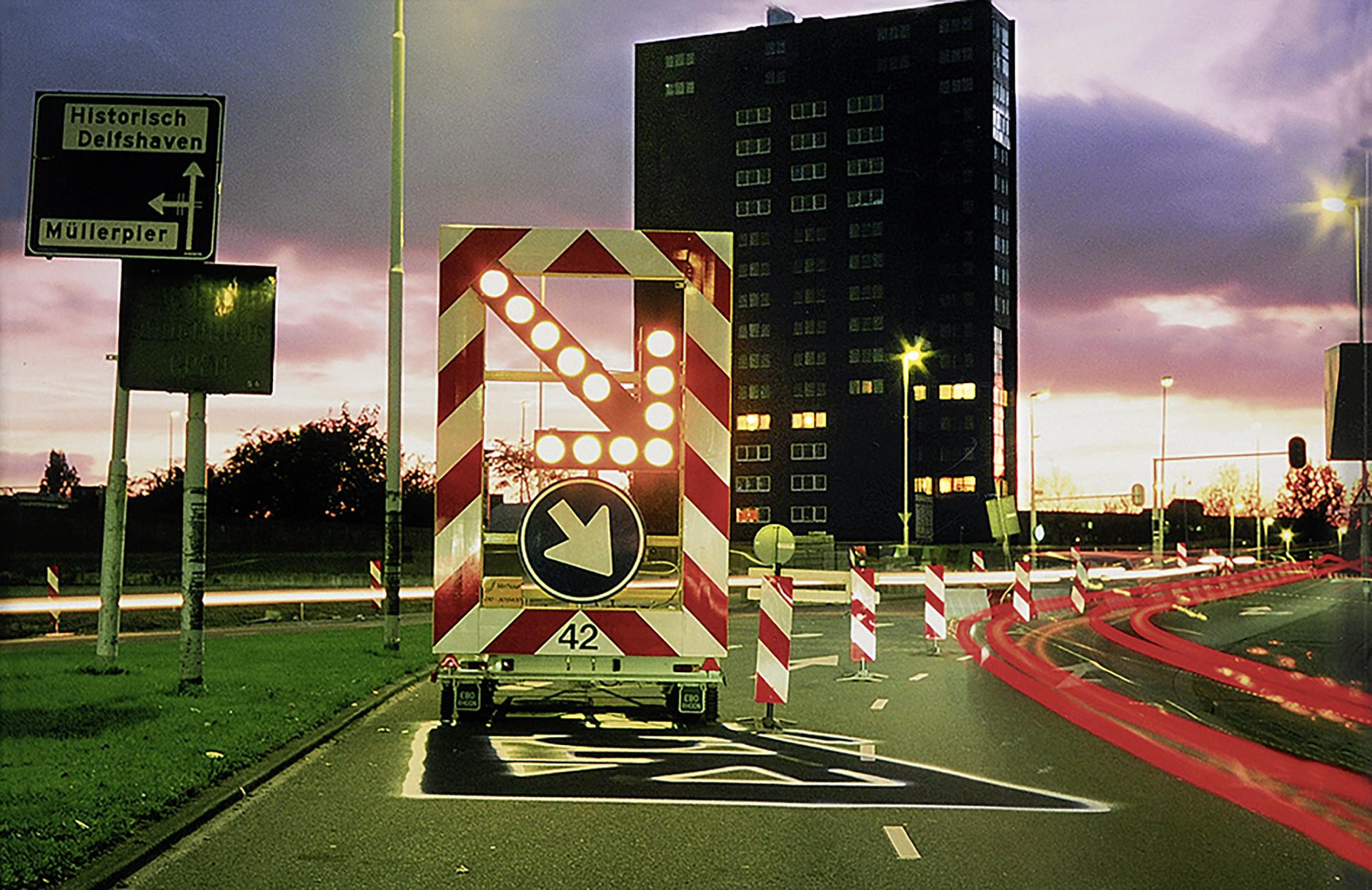 Zevs, Ombre électrique, feu de signalisation, Rotterdam