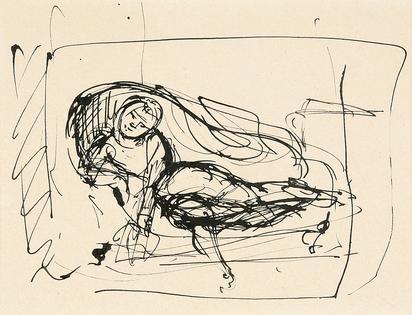 Balthus, Nu sur un canapé