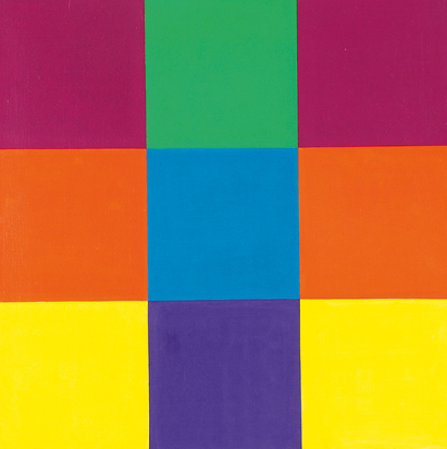 Green-blue-violet between red, 1960/80 (Entwurf)