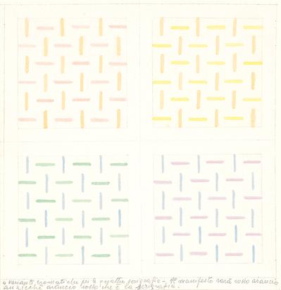 Progetto per 4 Serigrafie