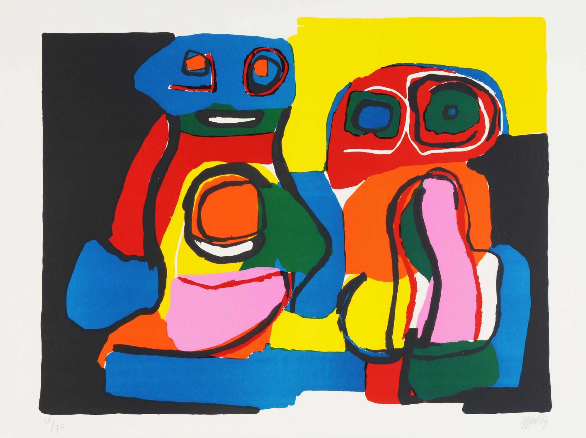 Appel Karel, Untitled (two figures)