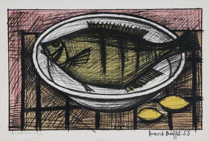 Buffet Bernard, Poisson dans un plat
