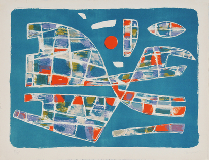6 sheets: A. Manessier; J. Bazaine (2); G. Singier (3)