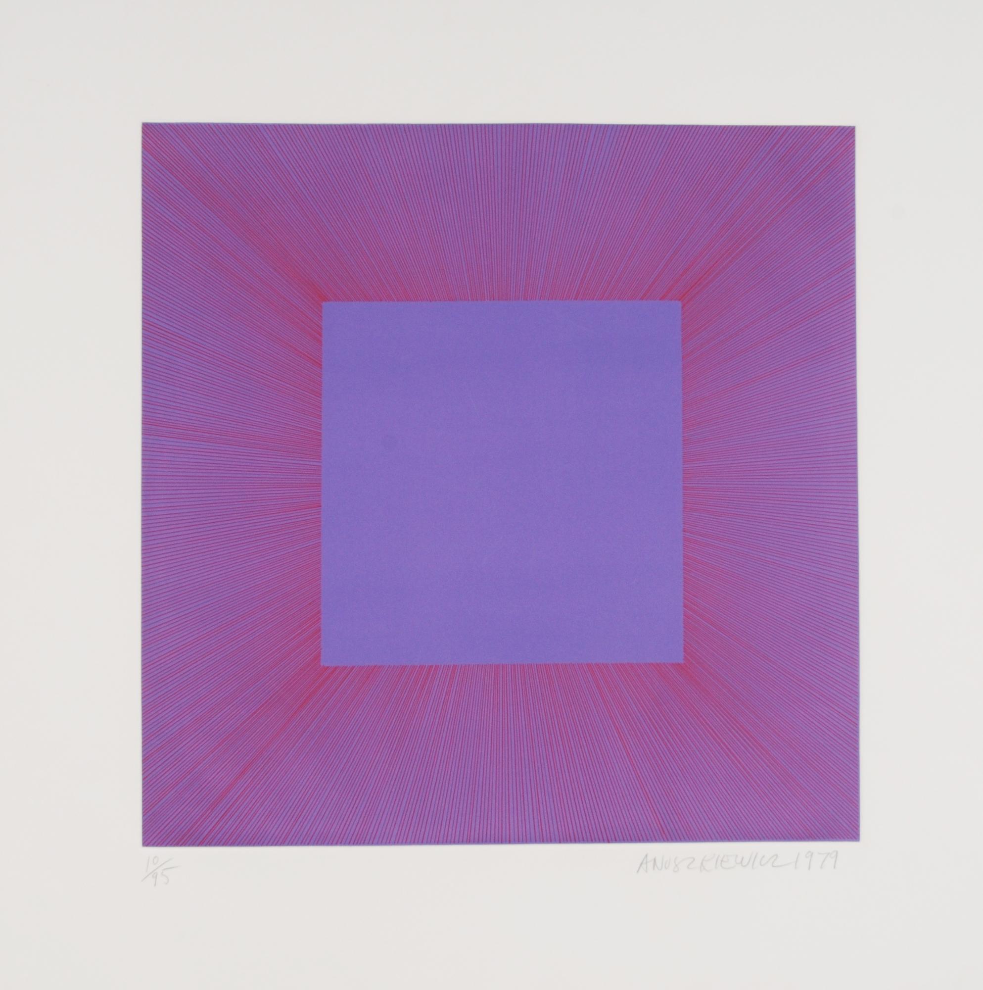 "Anuszkiewicz Richard, Purple with Red, aus ""Autumn Suite"""