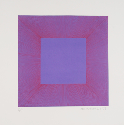 """Anuszkiewicz Richard, Purple with Red, from """"Autumn Suite"""""""