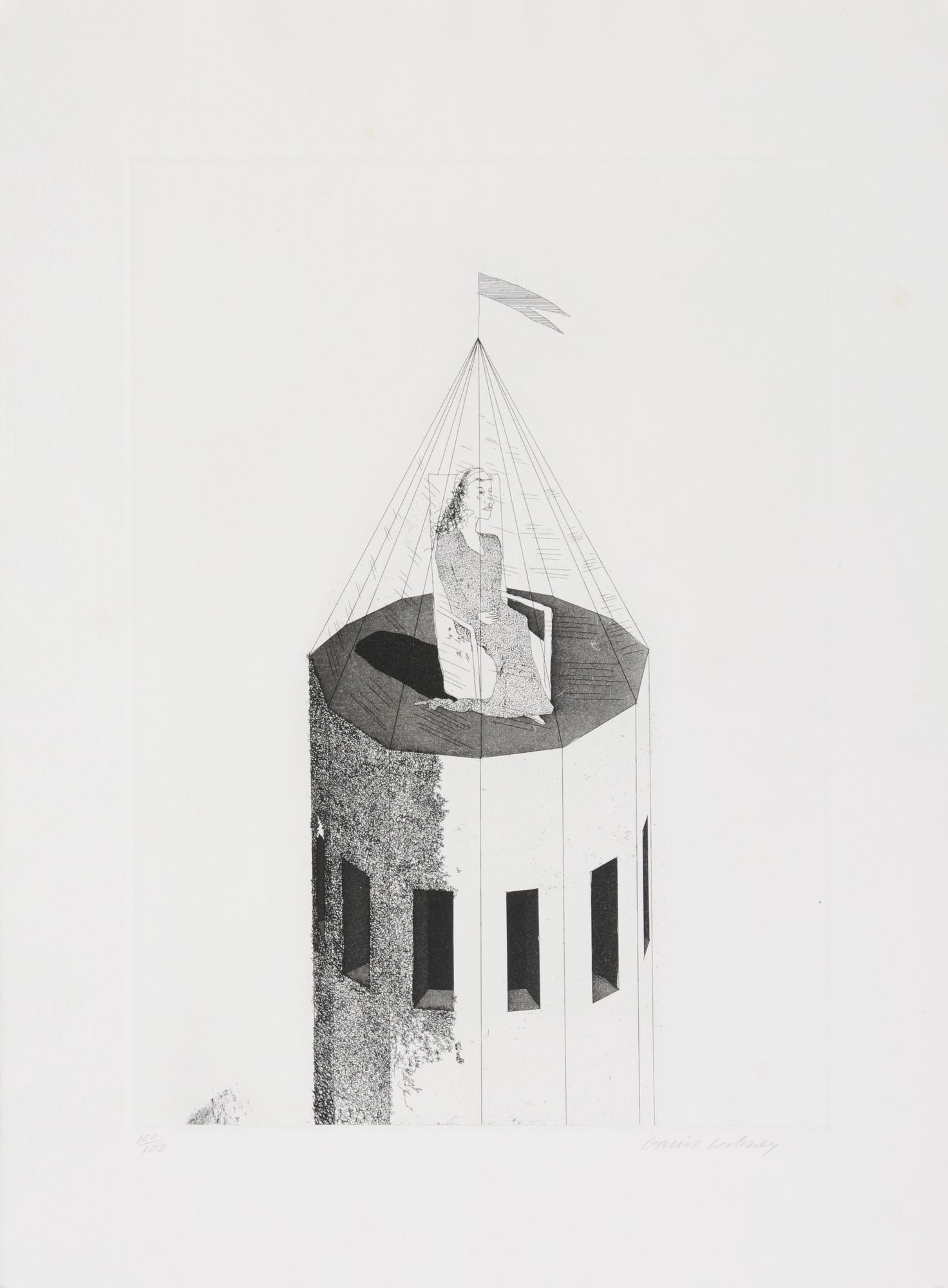 Hockney David, The Princess in Her Tower
