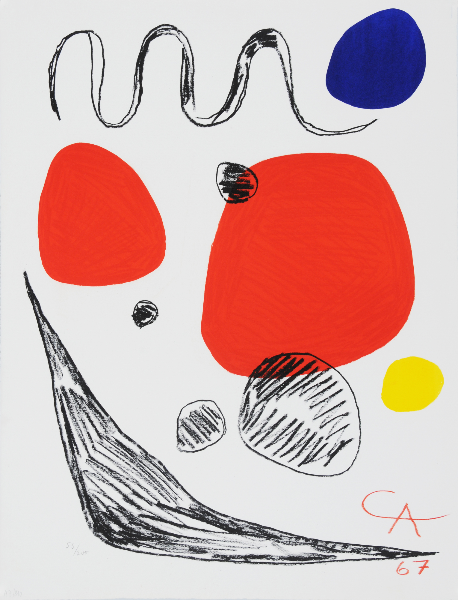 Calder Alexander, Red, Blue and Yellow Spheres