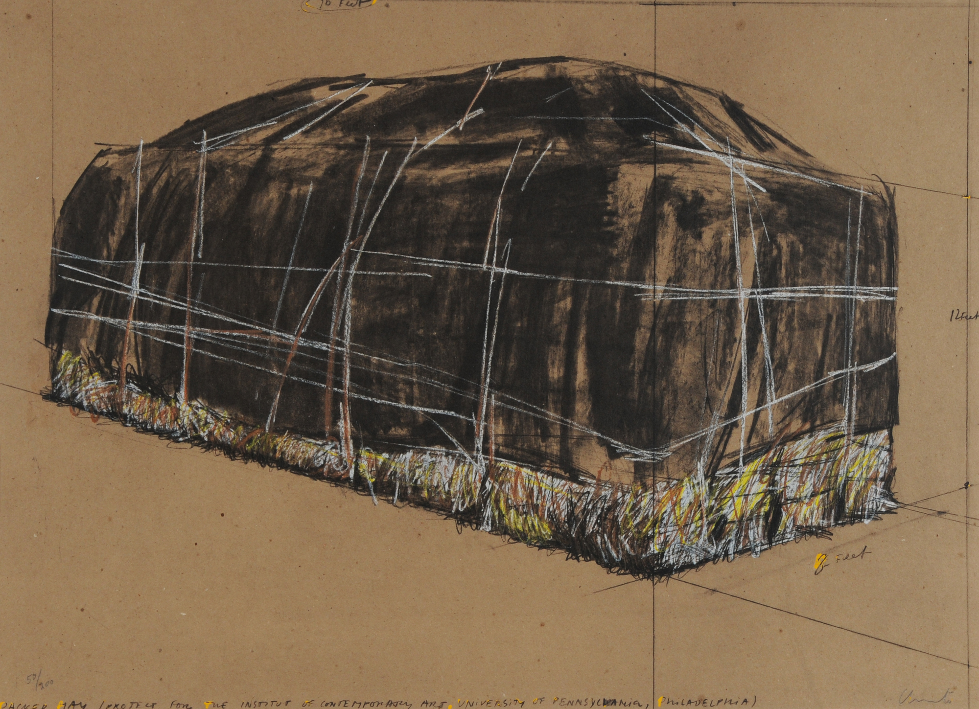 Christo, Packed Hay, Project for the Institute of Contemporary Art, Philadelphia