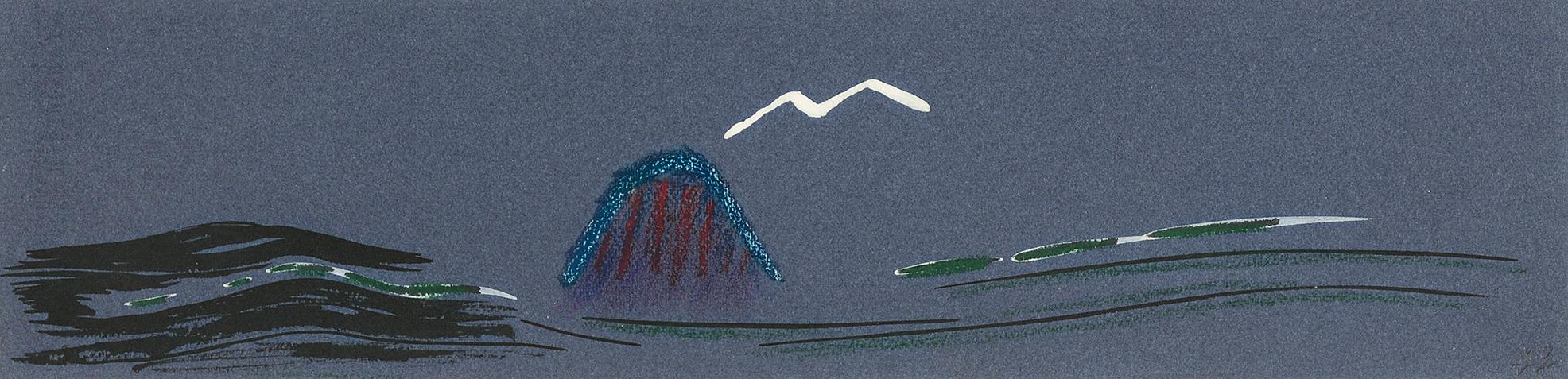 Oppenheim Meret, Weisser Vogel über Wasser
