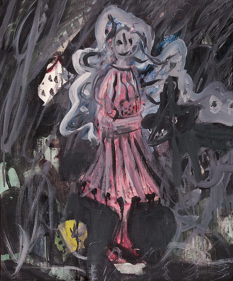 Kuhn Friedrich, Girl With Pink Dress