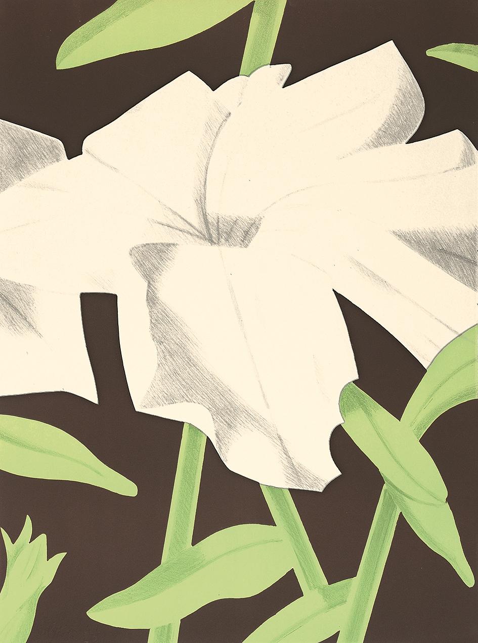 Alex Katz, White Petunia