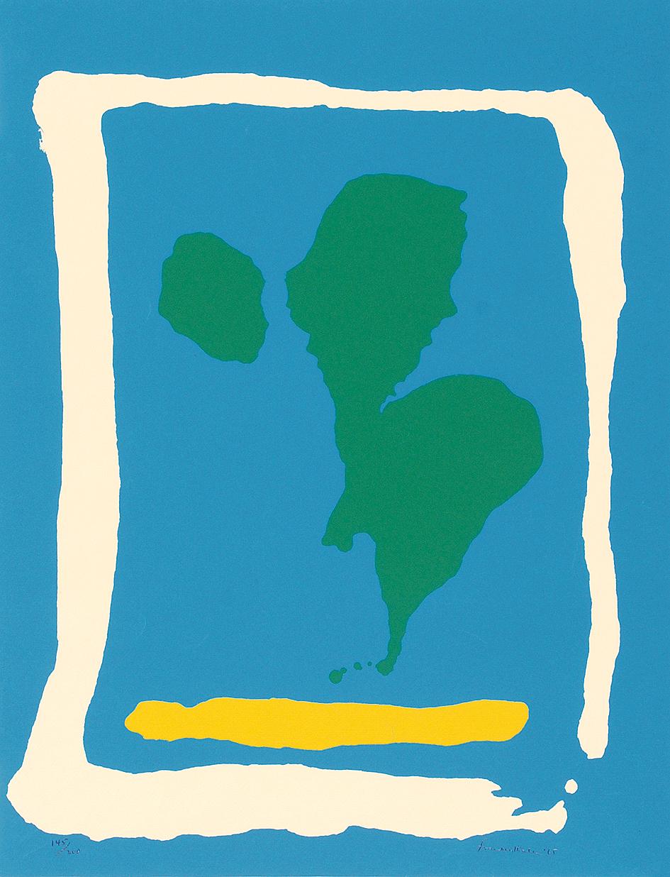 """Helen Frankenthaler, Air Frame, from """"New York Ten"""""""