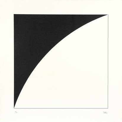 2 sheets:  White Curve I, 1973; Black Curve I
