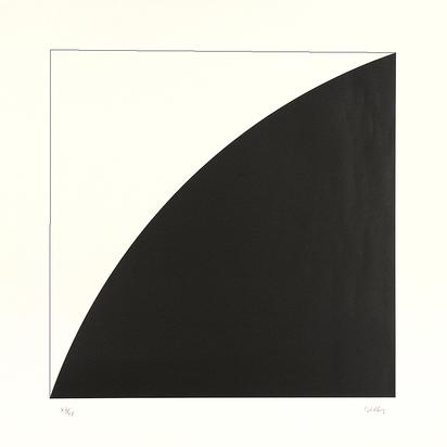 Kelly Ellsworth, 2 Blätter:  White Curve I, 1973; Black Curve I