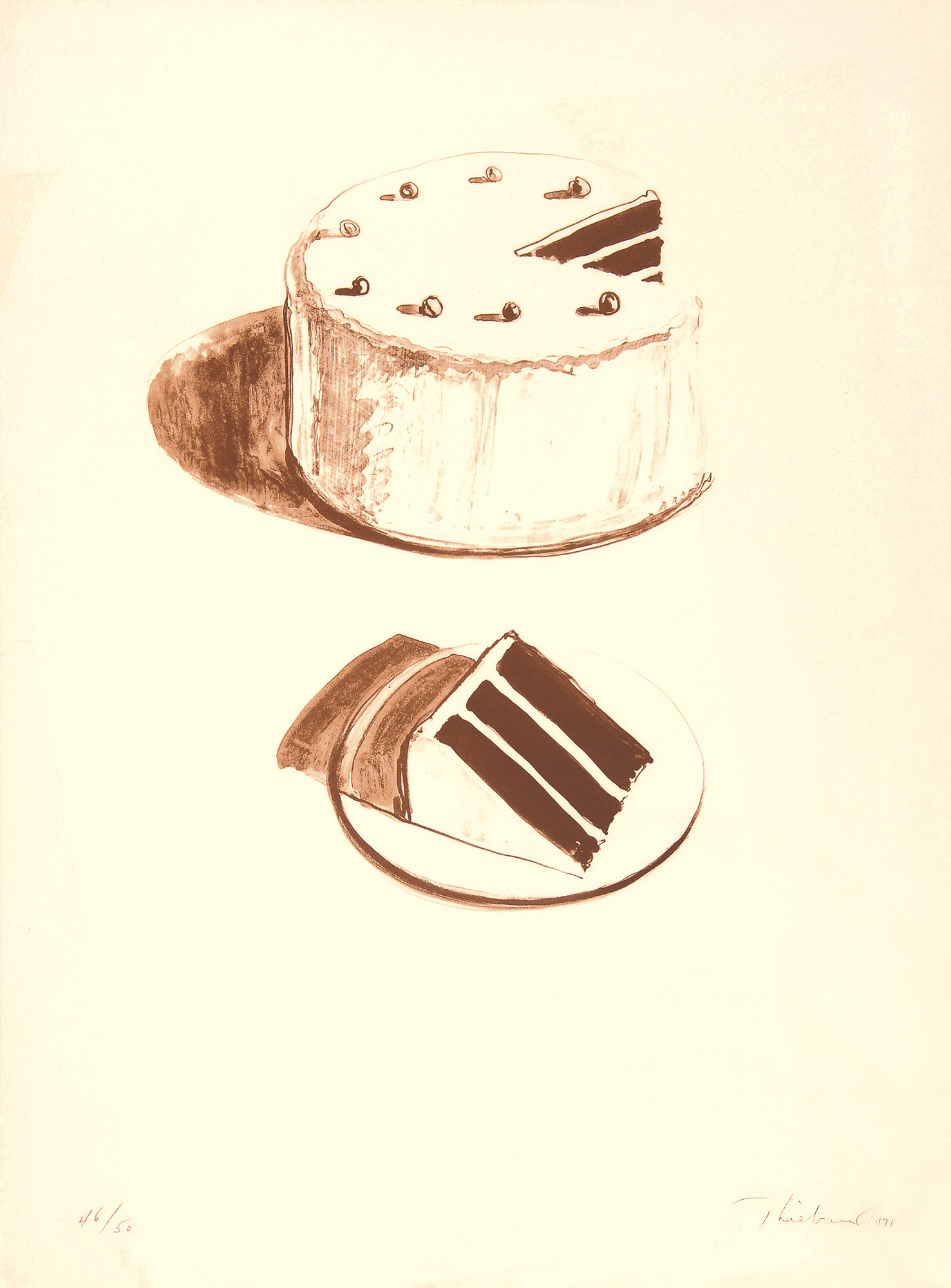 "Thiebaud Wayne, Chocolate Cake,  aus ""Seven Still Lifes and a Rabbit"""
