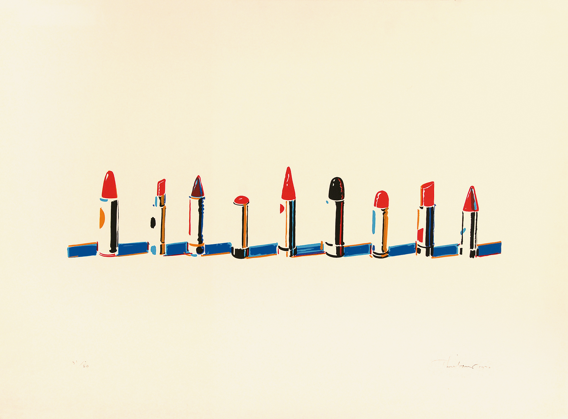 "Thiebaud Wayne, Lipstick Row,  from ""Seven Still Lifes and a Rabbit"""