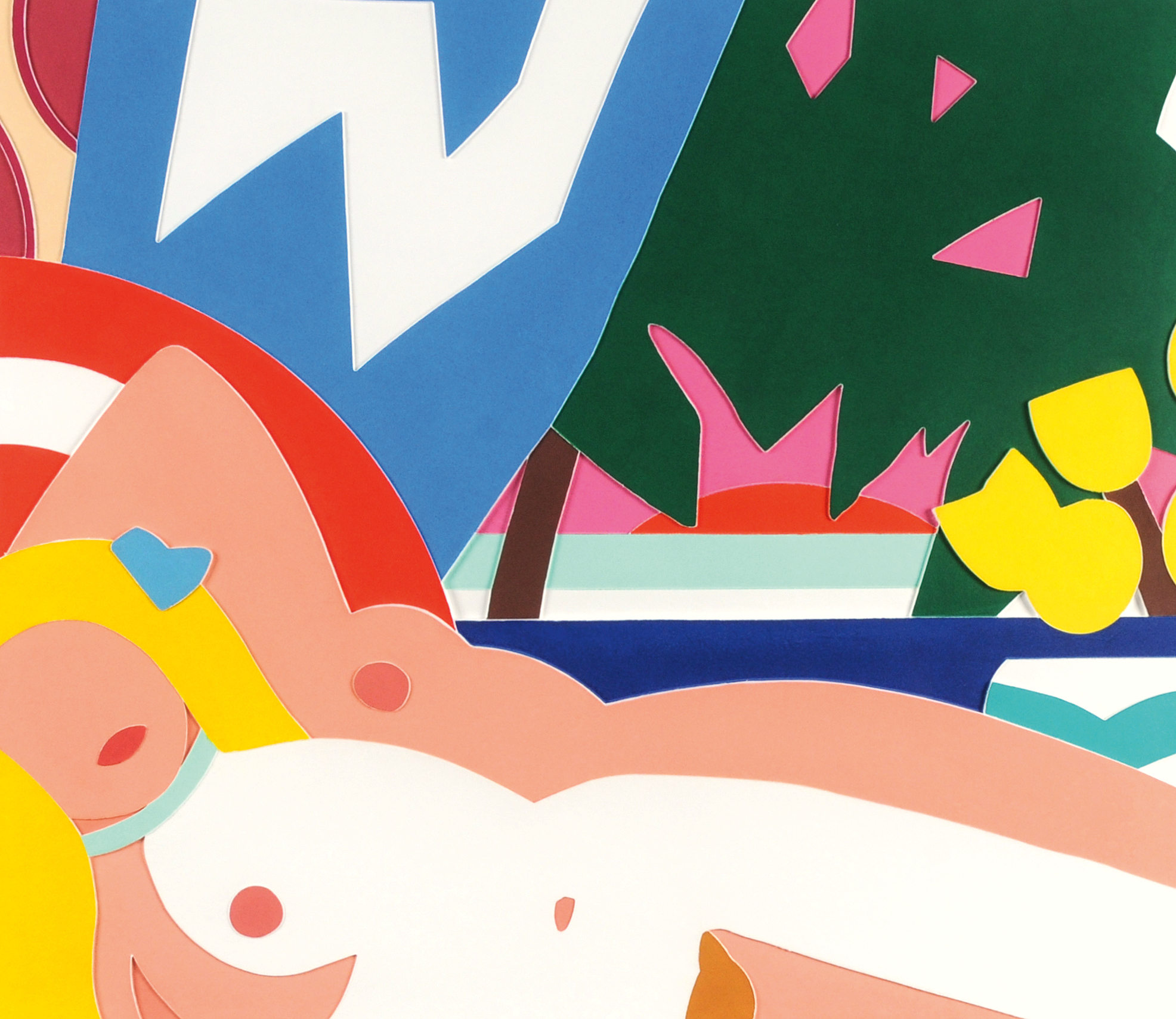 Wesselmann Tom, Sunset Nude with Yellow Tulips