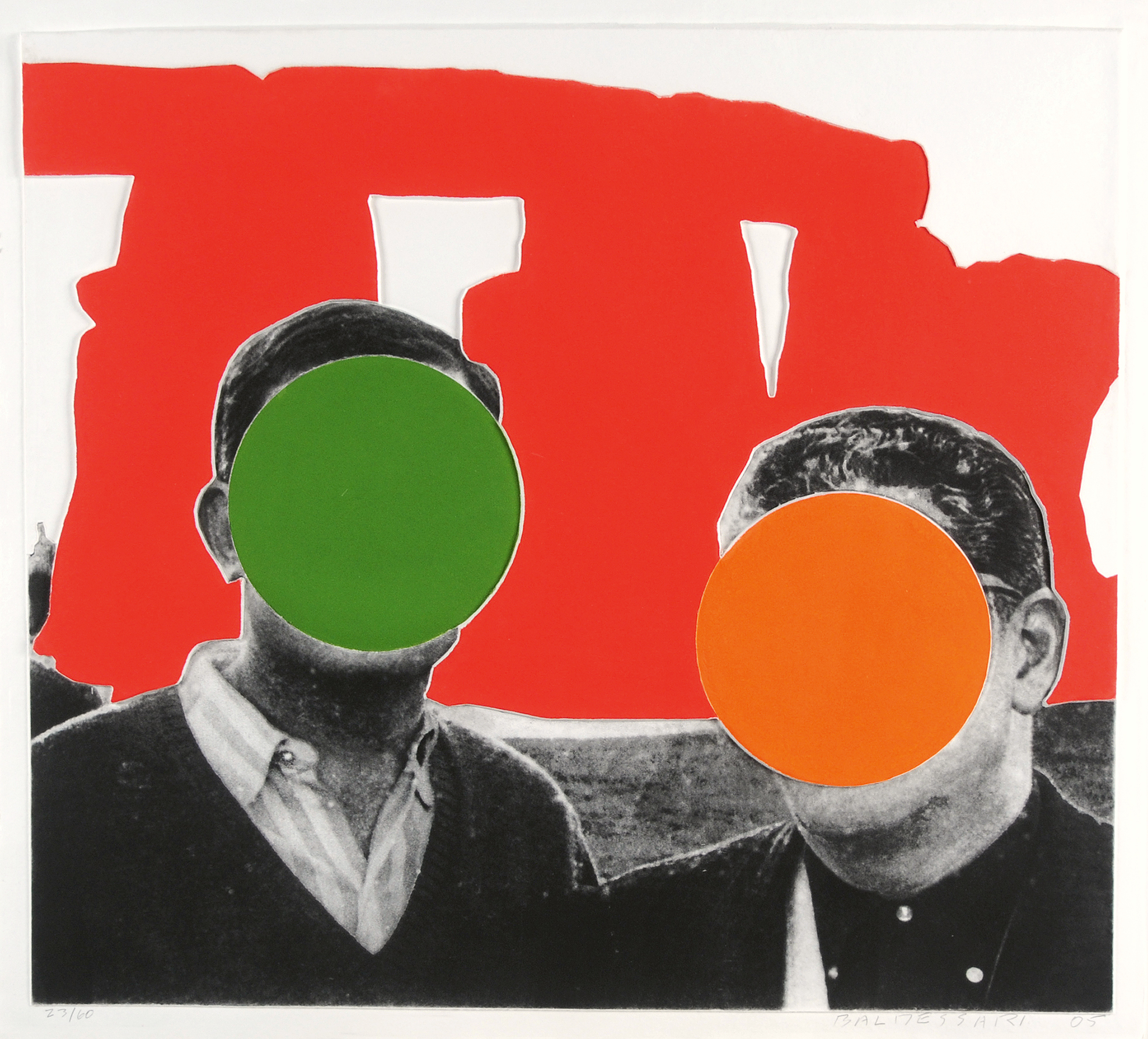 """John Baldessari, Red, from """"Stonehenge (With Two Persons)"""""""