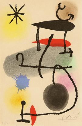 "Miró Joan, Sheet from ""Le dedans & le dehors"""