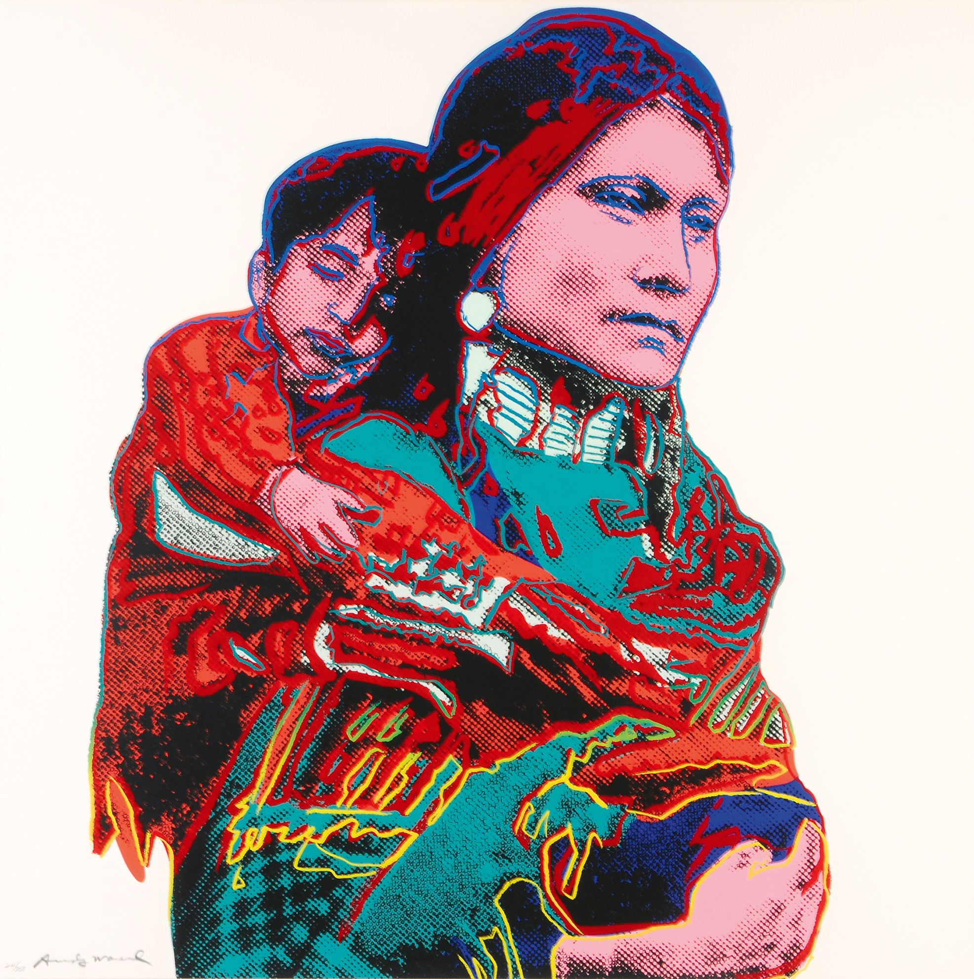 "Warhol Andy, Mother and Child,  from ""Cowboys and Indians"""