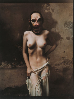 Saudek Jan, Nude with Gorilla Mask