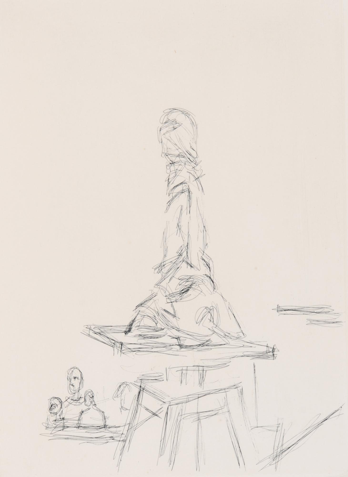 Giacometti Alberto, L'atelier à la sellette