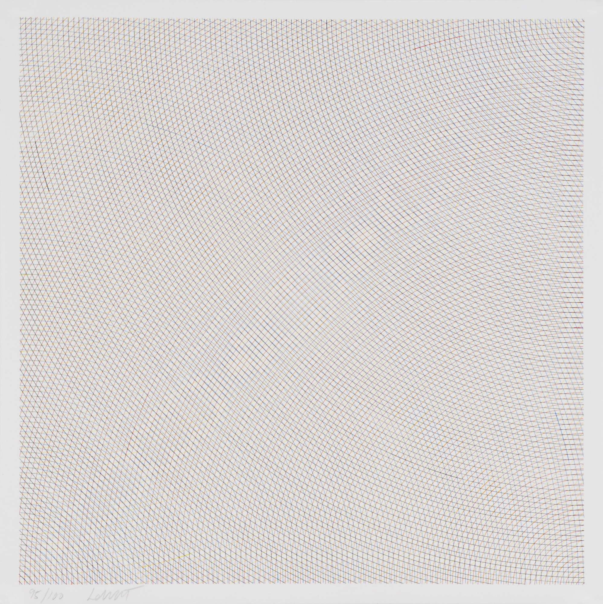 """LeWitt Sol, Blatt aus """"Arcs from Sides or Corners, Grids and Circles"""""""