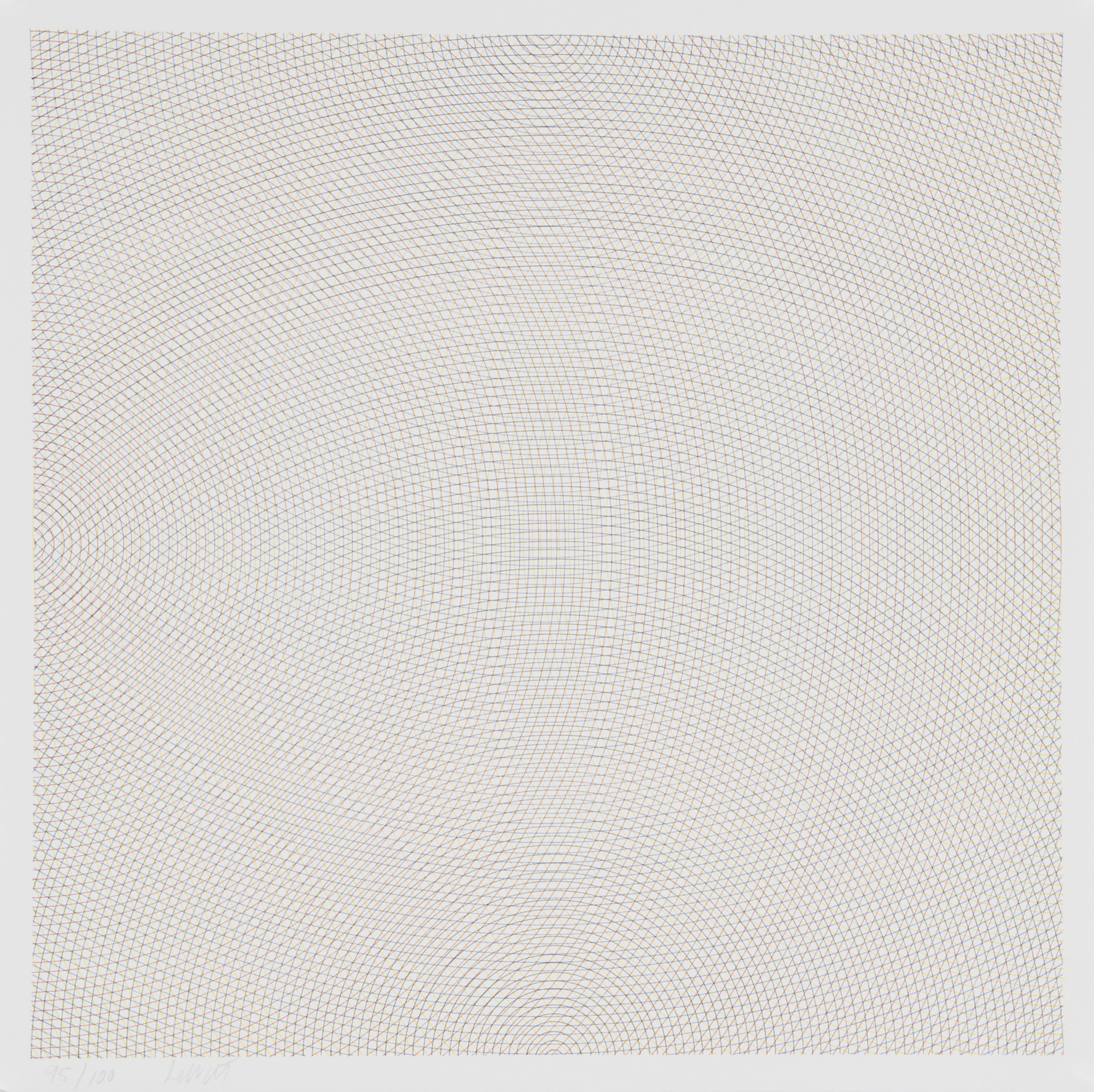 "LeWitt Sol, Blatt aus ""Arcs from Sides or Corners, Grids and Circles"""