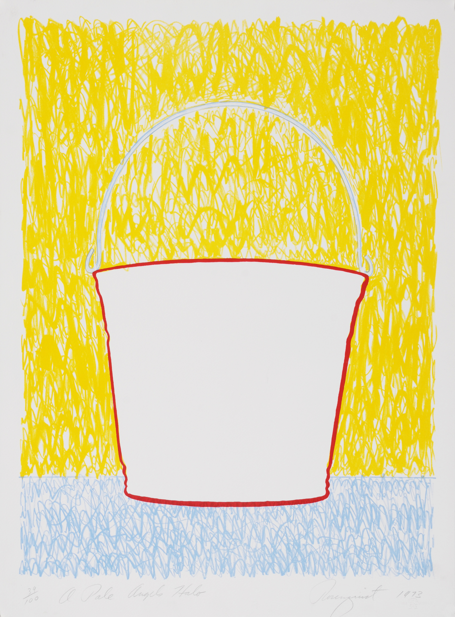 """Rosenquist James, A Pale Angel's Halo, from """"Reality and Paradoxes: A Portfolio of Seven Original Prints"""""""