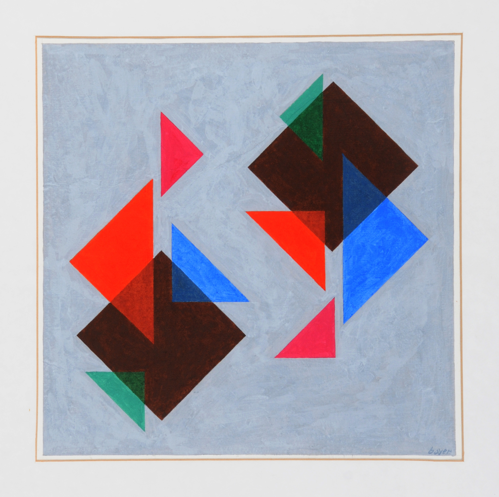 Bayer Herbert, Squares and their Triangles