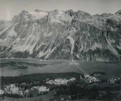 Braun Adolphe, 3 photographs: View on Piz Lagrev; View from Muottas Muragl on Celerina and St. Moritz; Silvaplana
