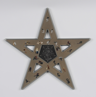 "Pentagram Box with ""Mystery of San Gottardo""-Pins"