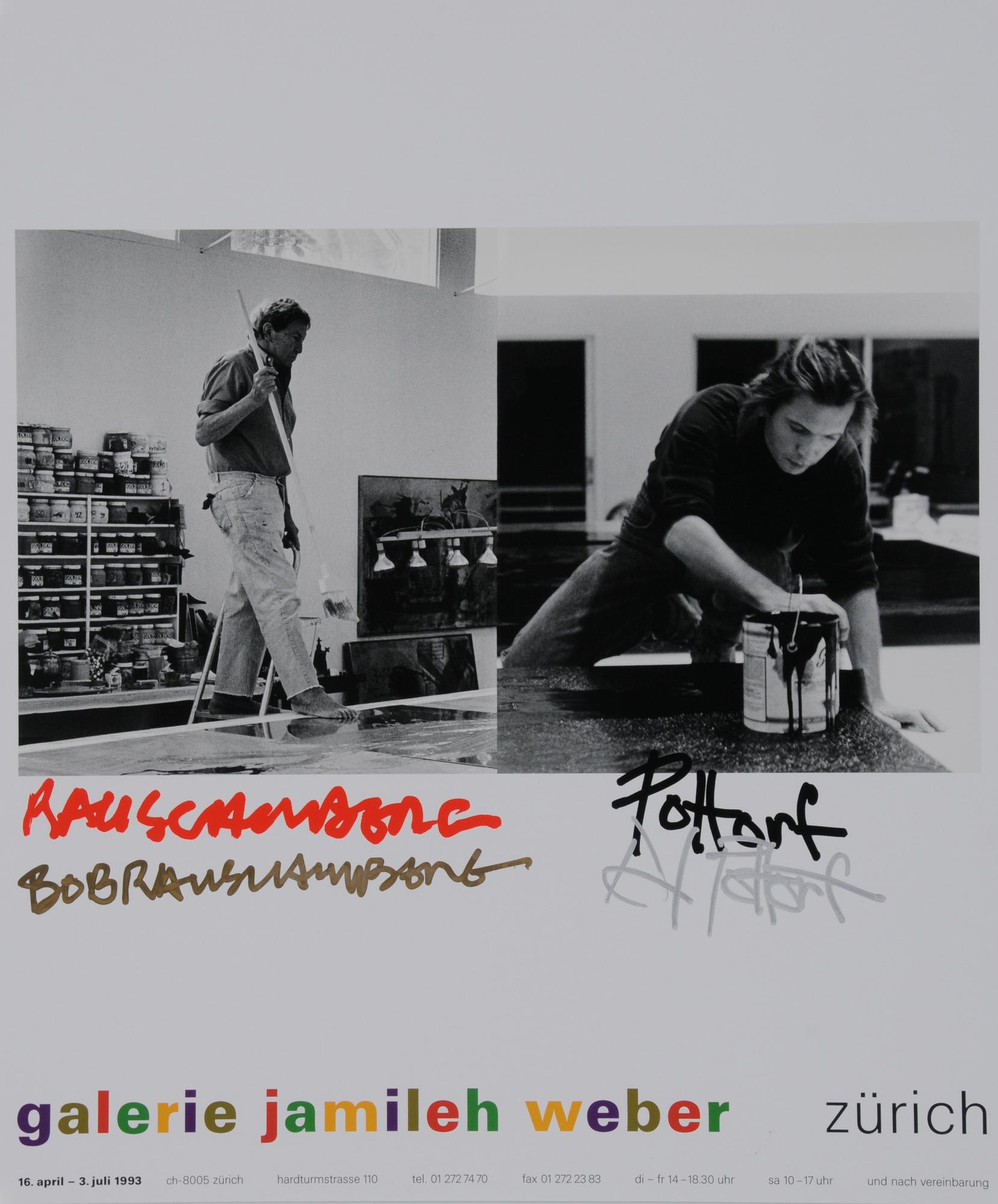Rauschenberg Robert, Poster. Rauschenberg und Pottorf in der Galerie Jamileh Weber, Zurich, 16. April - 3. July 1993