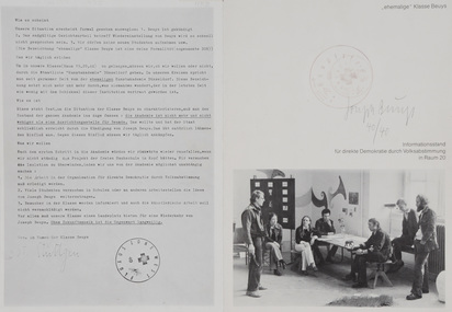 "Beuys Joseph, 2 sheets: ""Ehemalige"" Klasse Beuys, 1975; Löwe"