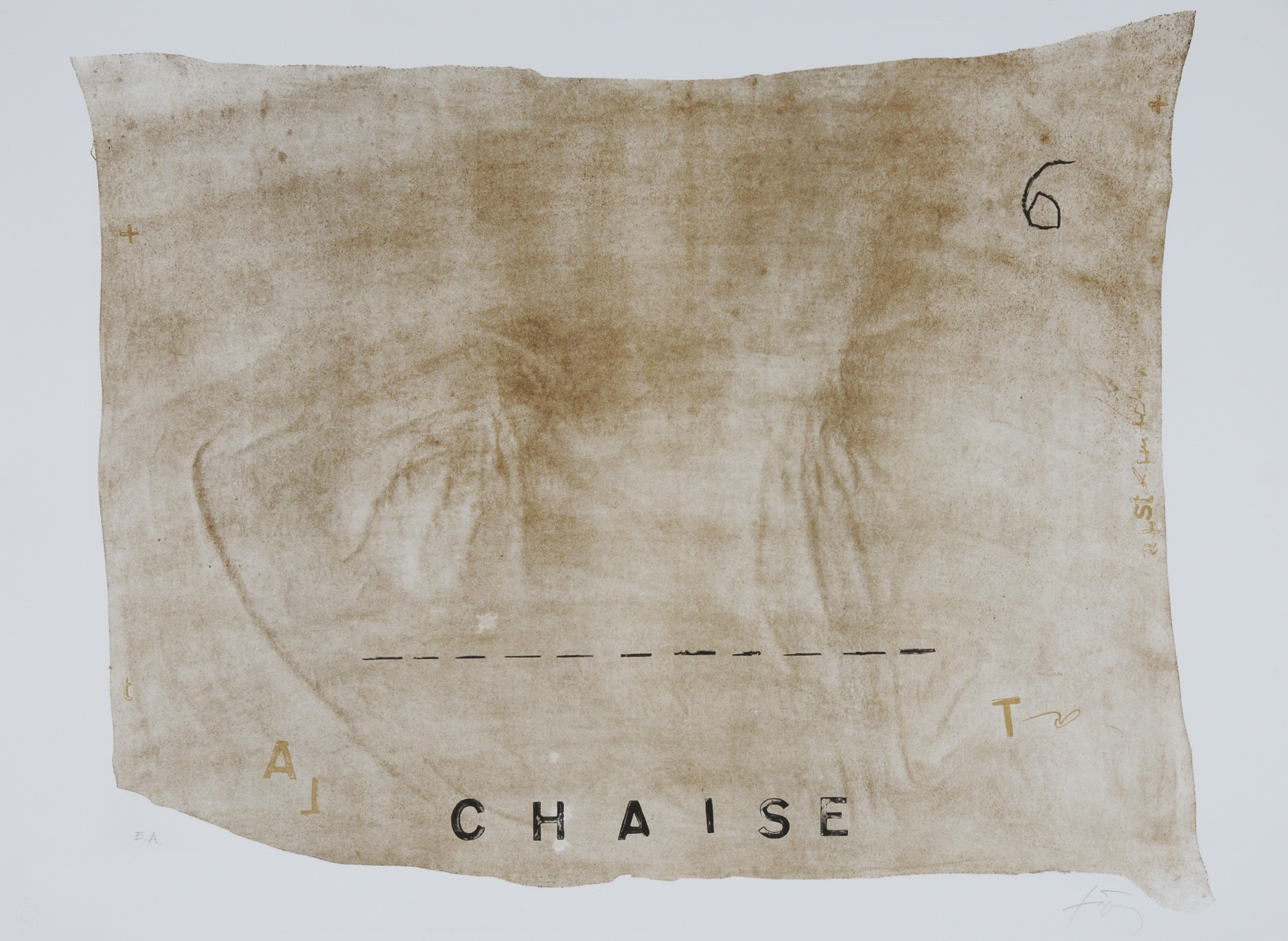 """Tàpies Antoni, Chaise, from """"Variations"""""""