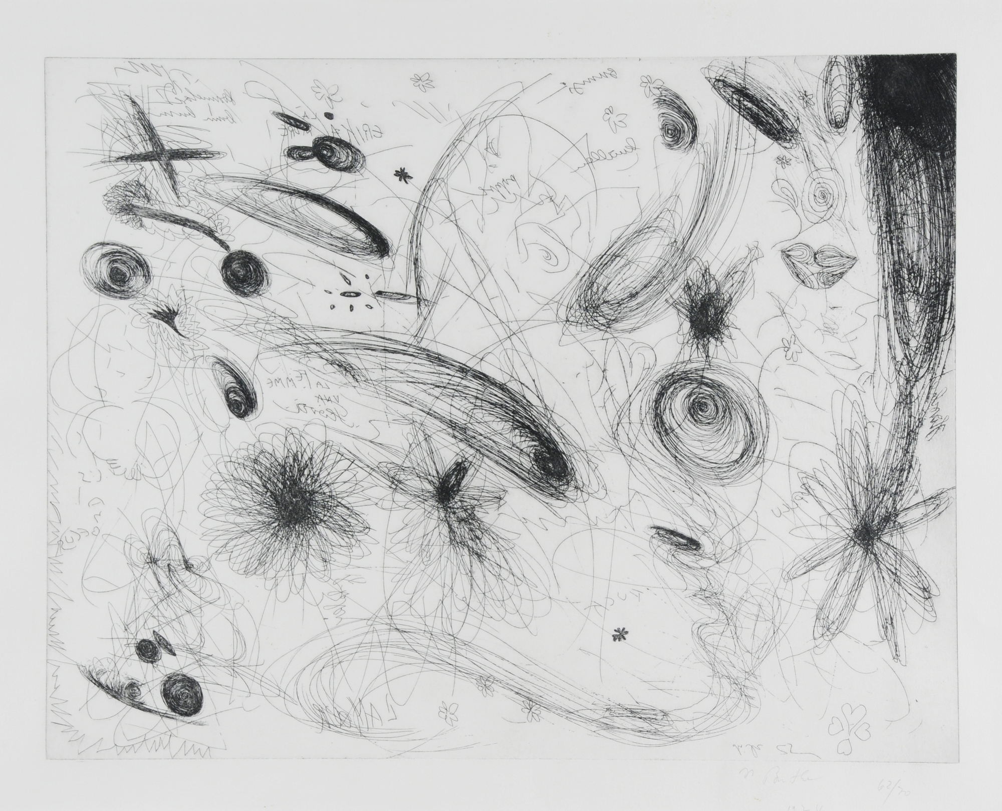Buthe Michael, 2 sheets: Untitled, 1974; Untitled
