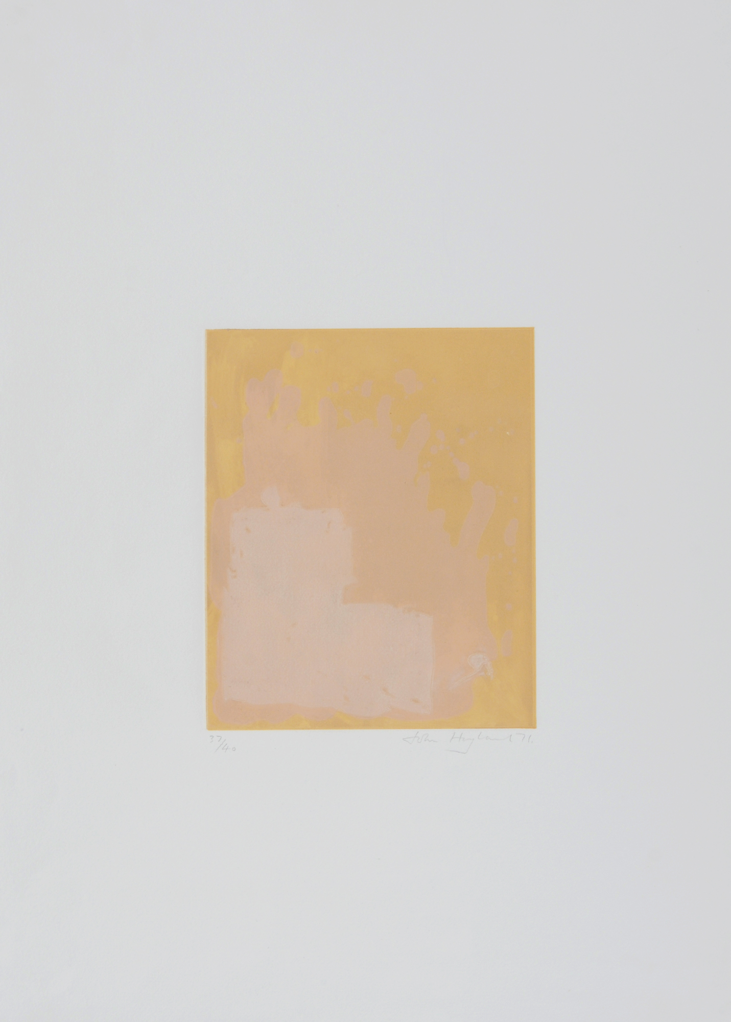 Hoyland John, 2 sheets: Untitled
