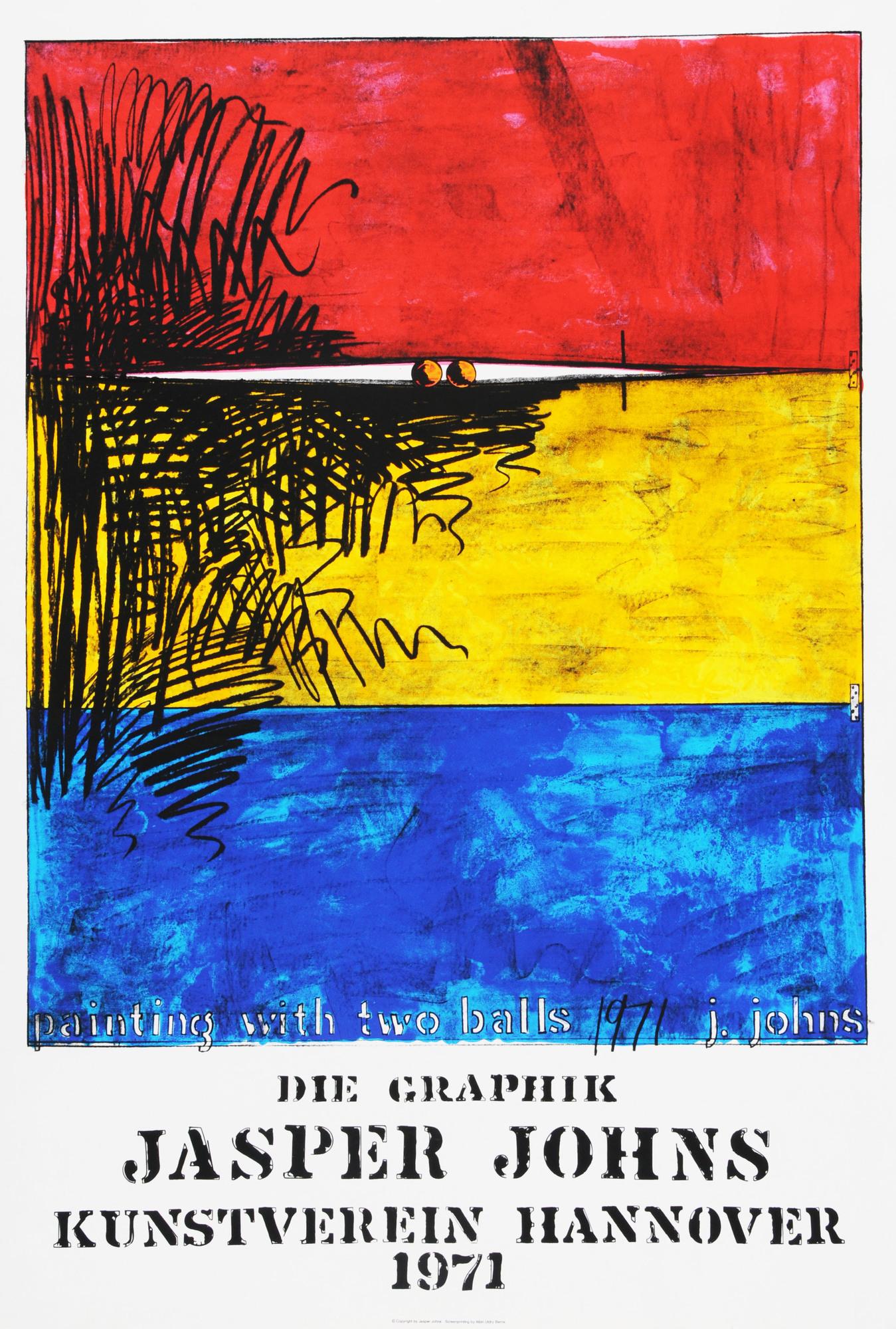 Johns Jasper, 3 Plakate: Moratorium, 1969; Jasper Johns, Philadelphia Museum of Art, 1970; Jasper Johns, Die Grafik, Kunstverein Hannover